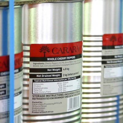 Carara Canned B-Grade Red Cherry Peppers